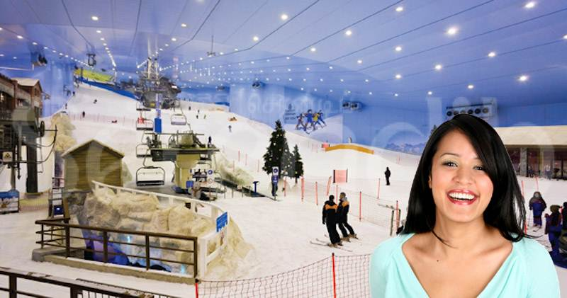 Skiing the slopes in Dubai
